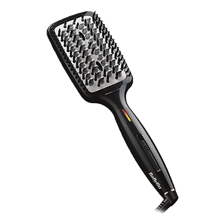 Hot Straightening Brush Black